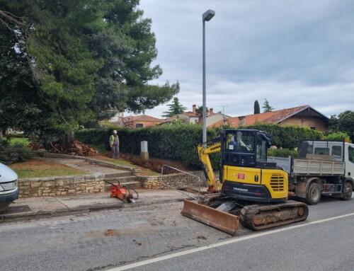 Stanje radova – izgradnja kanalizacije u dijelu ulice Vitomira Širola Paje, prolazu Milana Macana i prolazu Marije Maretić